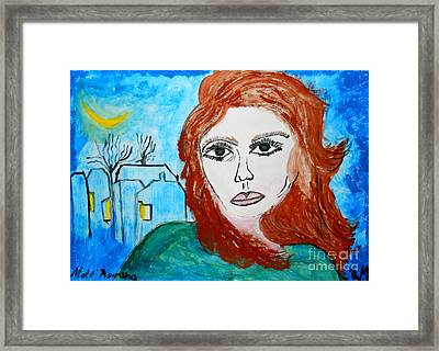 Magnetic Eyes Framed Print by Ramona Matei