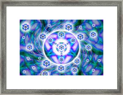 Framed Print featuring the drawing Magnetic Fluid Harmony by Derek Gedney