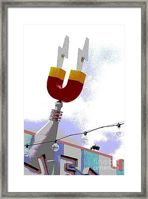 Framed Print featuring the digital art Magnetic by Valerie Reeves