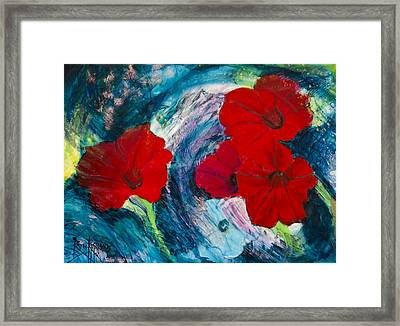 Framed Print featuring the painting Magneto by Ron Richard Baviello