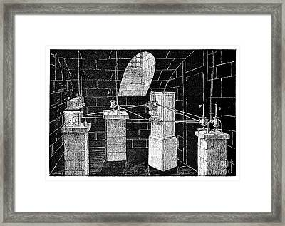 Magnetograph, 19th Century Framed Print by Spl