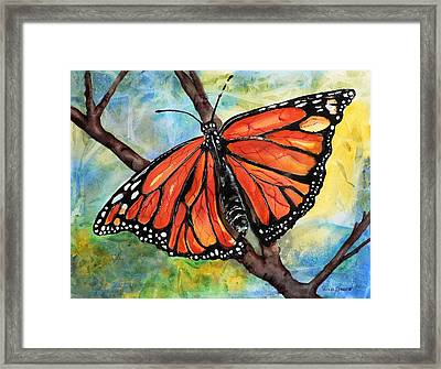 Magnificant Monarch Framed Print