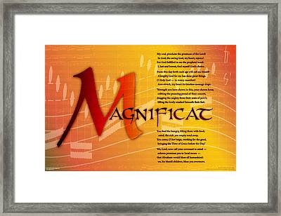Framed Print featuring the digital art Magnificat by Chuck Mountain
