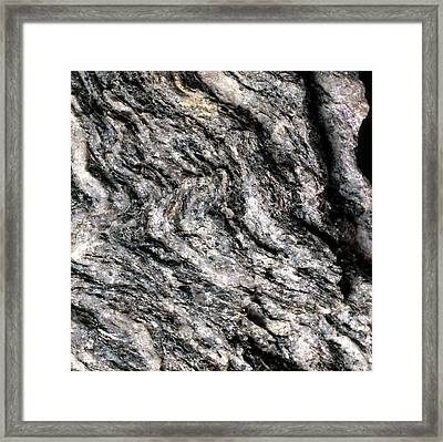 Magnification Of Grain Of Gneiss Rock Framed Print by Dorling Kindersley/uig