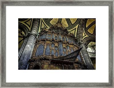 Magnificent Pipe Organ Framed Print by Lynn Palmer