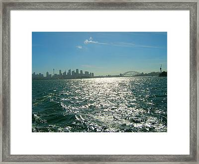 Framed Print featuring the photograph Magnificent Sydney Harbour by Leanne Seymour