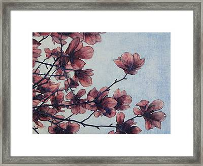 Framed Print featuring the painting Magnolia by Andrew Danielsen