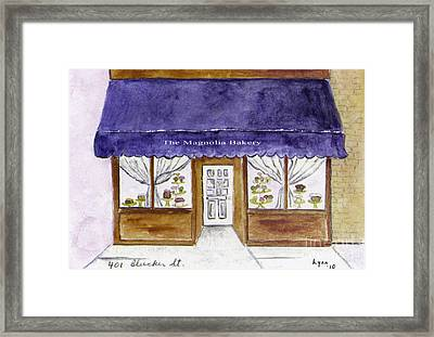 Magnolia Bakery In Greenwich Village Framed Print by AFineLyne