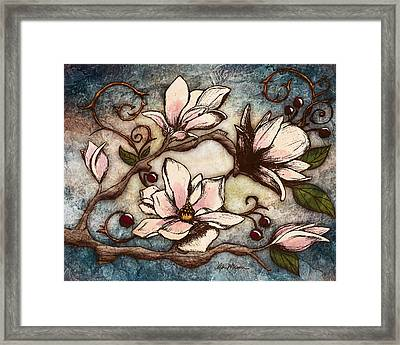 Magnolia Branch I Framed Print by April Moen