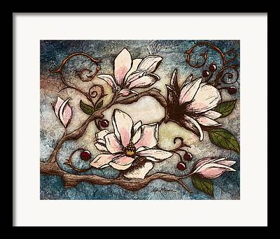 Magnolia Tree Framed Prints