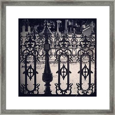 magnolia Cemetery #charleston Framed Print