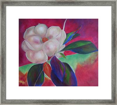 Magnolia I Framed Print by Susan Hanlon