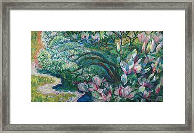 Magnolia In Ordrupgaard Framed Print by Olga Sorokina
