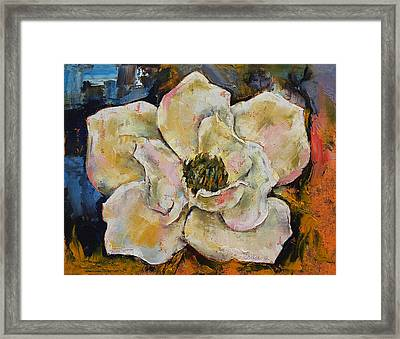 Magnolia Framed Print by Michael Creese