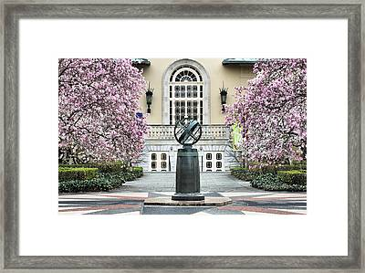 Magnolia Plaza Framed Print by JC Findley