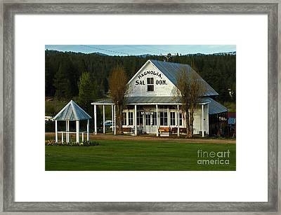 Framed Print featuring the photograph Magnolia Saloon by Sam Rosen