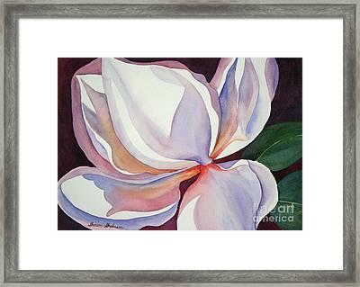 Magnolia Framed Print by Shirin Shahram Badie
