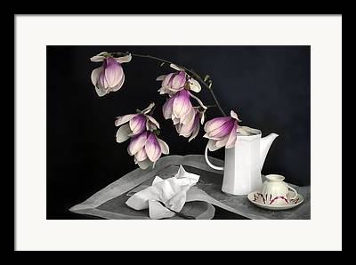 Still Life With Pitcher Digital Art Framed Prints