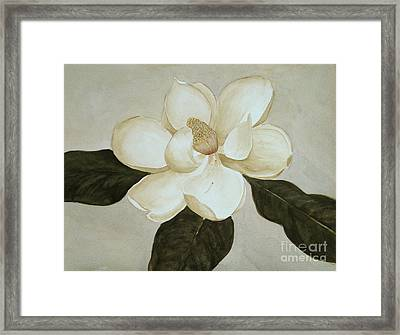 Magnolia Wave Framed Print by Nancy Kane Chapman