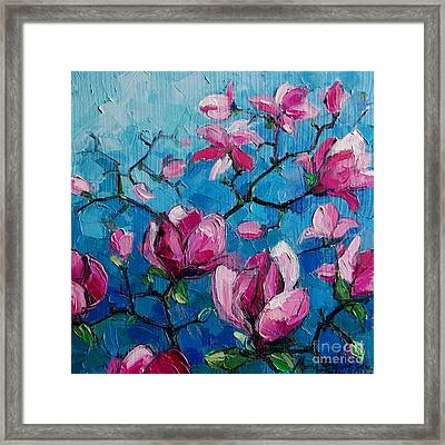 Magnolias For Ever Framed Print by Mona Edulesco