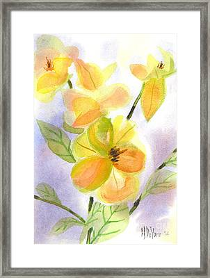 Magnolias Gentle Framed Print by Kip DeVore