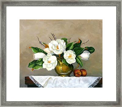 Magnolias - Southern Beauties Framed Print