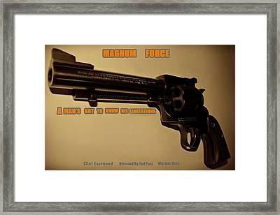 Magnum Force Custom Framed Print by Movie Poster Prints