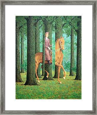 Magritte's The Blank Signature Framed Print