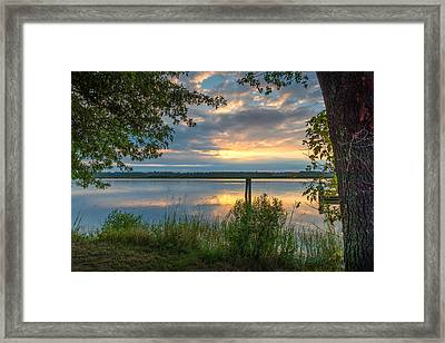 Framed Print featuring the photograph Magruder's Landing by Cindy Lark Hartman