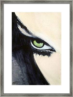 Framed Print featuring the painting Magyar Eyes by Ed  Heaton