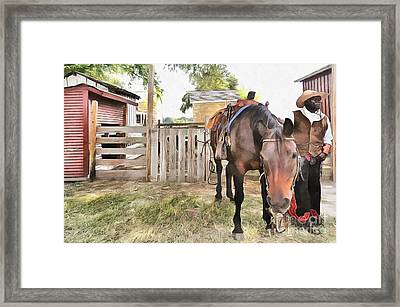 Mahaffie Stagecoach Stop And Farm Framed Print by Liane Wright