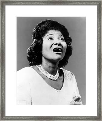 Mahalia Jackson, Ca. 1962 Framed Print by Everett