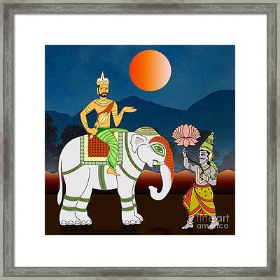 Maharajah's Journey Framed Print by Bedros Awak