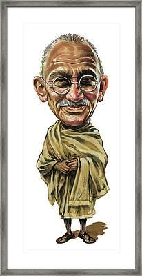 Mahatma Gandhi Framed Print by Art