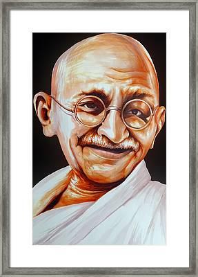 Mahatma Gandhi Framed Print by Arun Sivaprasad