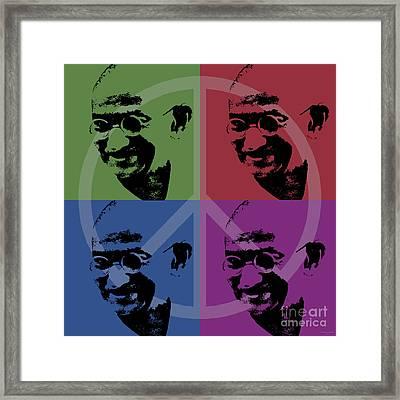 Mahatma Gandhi  Framed Print by Jean luc Comperat