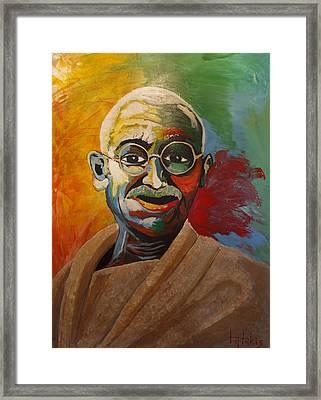 Mahatma Framed Print by George Tatakis
