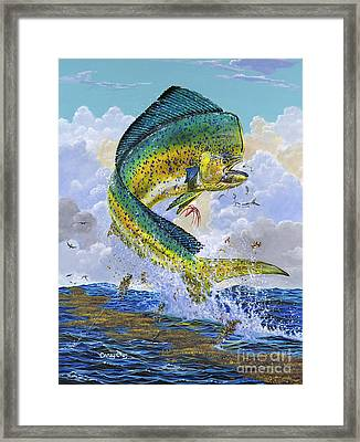 Mahi Hookup Off0020 Framed Print by Carey Chen