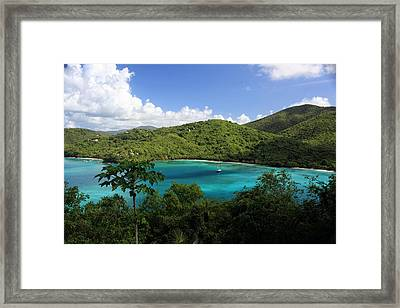 Framed Print featuring the photograph Maho Bay by Heather Green