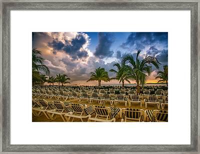 Mahogany Bay Beach-roatan-honduras Framed Print