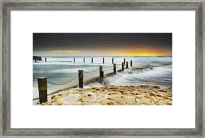 Mahon Pool Australia Framed Print by Mike Banks