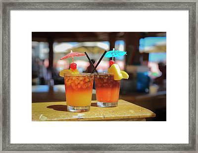 Mai Tai Bar, Royal Hawaiian Hotel Framed Print by Douglas Peebles