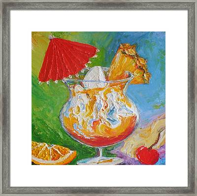 Mai Tai Mixed Drink Framed Print by Paris Wyatt Llanso