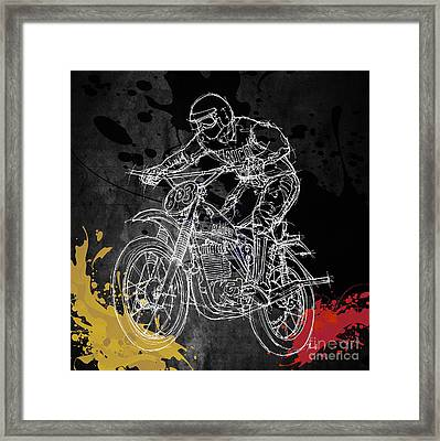 Maico Biker Framed Print