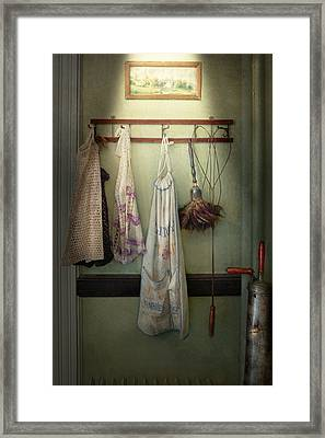 Maid - Always So Much Housework Framed Print by Mike Savad