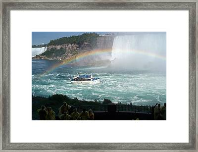 Framed Print featuring the photograph Maid Of The Mist -41 by Barbara McDevitt