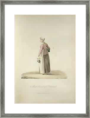 Maid Servant Of Rotterdam Framed Print by British Library