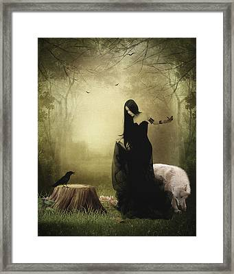 Maiden Of The Forest Framed Print by Sharon Lisa Clarke
