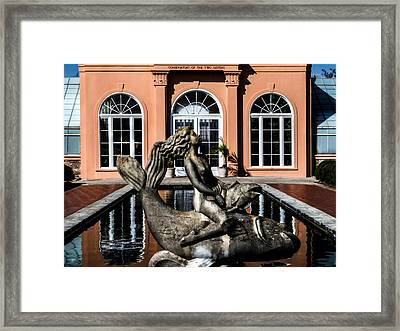 Maiden Of The Pond Framed Print by Renee Barnes