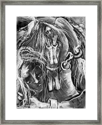 Maiden's Daughters Of Confusion Framed Print by Kenneth Agnello